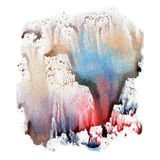 Illustration watercolor texture of transparent blue, brown, pink and gray colors. Watercolor abstract background, spots, blur, fil Royalty Free Stock Image