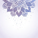 Illustration with watercolor violet floral pattern Royalty Free Stock Photo
