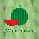 Illustration with watermelon Stock Photography