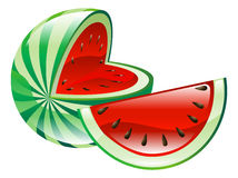 Illustration of watermelon fruit icon clipart Royalty Free Stock Images