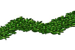 Isolated wave of leaves royalty free stock photo
