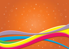 Abstract Waves Background. An illustration of a waves background with lines and circles Stock Photo
