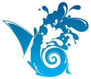 Illustration of Waves Splashing Stock Photography