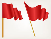 Illustration waving flag Stock Photos
