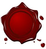 Illustration of wax grunge red seal Royalty Free Stock Image