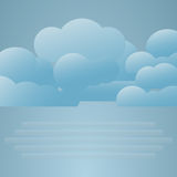 Illustration of weather conditions. Fog Stock Photography