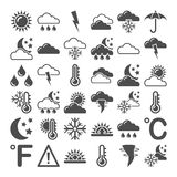 Illustration of weather icons Stock Photography