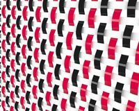 Background. Illustration of weaved pattern in red and white and black color Stock Image