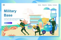 Military base royalty free illustration