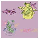 Illustration of wedding cakes Royalty Free Stock Image