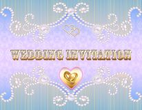 wedding invitation card for a wedding with a g Royalty Free Stock Photography