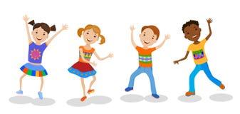 Illustration, Welche Die Tanzen-Kinder Eingestellt ...