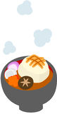 The illustration which is usable in the letter of New Year's greetings (New Year's dish) Stock Photo