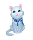 Illustration on white background cat with a bow. Stock Images
