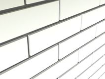 Illustration of a white brick wall Royalty Free Stock Photography