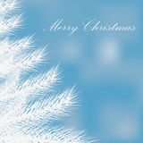 Illustration of a white Christmas tree . Royalty Free Stock Photography