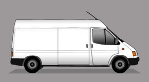 Illustration of white delivery car Stock Photography
