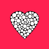 Illustration of white elements heart, Valentines Day print Stock Photos
