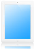 Illustration of white iPad 2, with clipping path Stock Photo