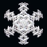 Illustration of white snowflake Stock Image