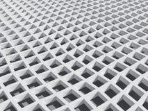 Illustration: white square cellular bent lattice Royalty Free Stock Image