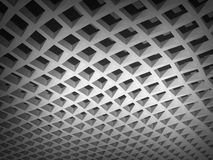 Illustration: white square cellular bent lattice Stock Photos
