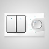 Illustration of white switch with dimmer Stock Images