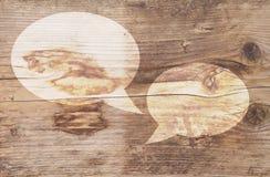 Illustration of white text balloons Royalty Free Stock Photos