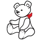 White teddy bear Stock Images