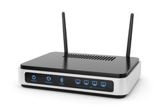 Illustration of wi-fi router Royalty Free Stock Photos