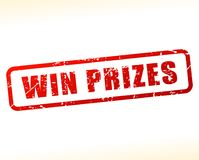 Win prizes text buffered. Illustration of win prizes text buffered on white background Stock Photos