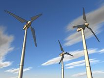 Illustration of a wind plant Stock Image