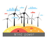Illustration of wind power Royalty Free Stock Photos