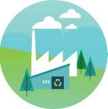 Illustration Of Wind Turbines To Show Alternative Energy stock illustration