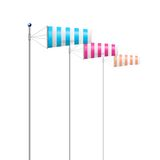Illustration of windsocks by wind Royalty Free Stock Photo
