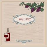 Illustration with wine bottles Stock Image