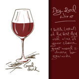 Illustration of Wine cocktail Stock Photos