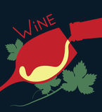 Illustration of wine. And a glass Royalty Free Stock Photography