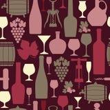 Illustration of wine pattern Stock Images