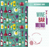 Illustration of wine pattern Royalty Free Stock Photography