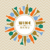Illustration for wine shop menu stock vector Royalty Free Stock Photo