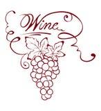 Illustration - wine title Royalty Free Stock Photos