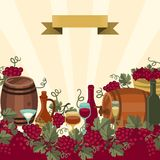 Illustration for wine wineries and restaurants Stock Photography