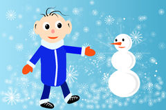 Illustration of winter Stock Images