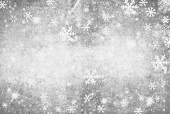 Illustration of a Winter Background with Snowflakes Royalty Free Stock Image