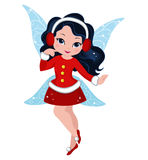 Illustration of a winter Christmas fairy Royalty Free Stock Photo