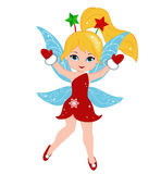 Illustration of a winter Christmas fairy Royalty Free Stock Image