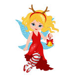 Illustration of a winter Christmas fairy Stock Image