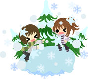 The illustration of winter Royalty Free Stock Photos
