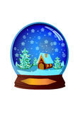 Illustration winter festive ball Royalty Free Stock Photo